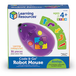 Code & Go STEM Programmable Robot Mouse - 31 Piece Set - by Learning Resources [LER2841]