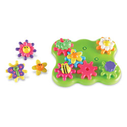 Gears! Gears! Gears! Build & Spin Flower Garden Building Set - by Learning Resources