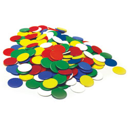 Invicta Counters 22mm - Assorted Colours (Set of 500) [IP011059]