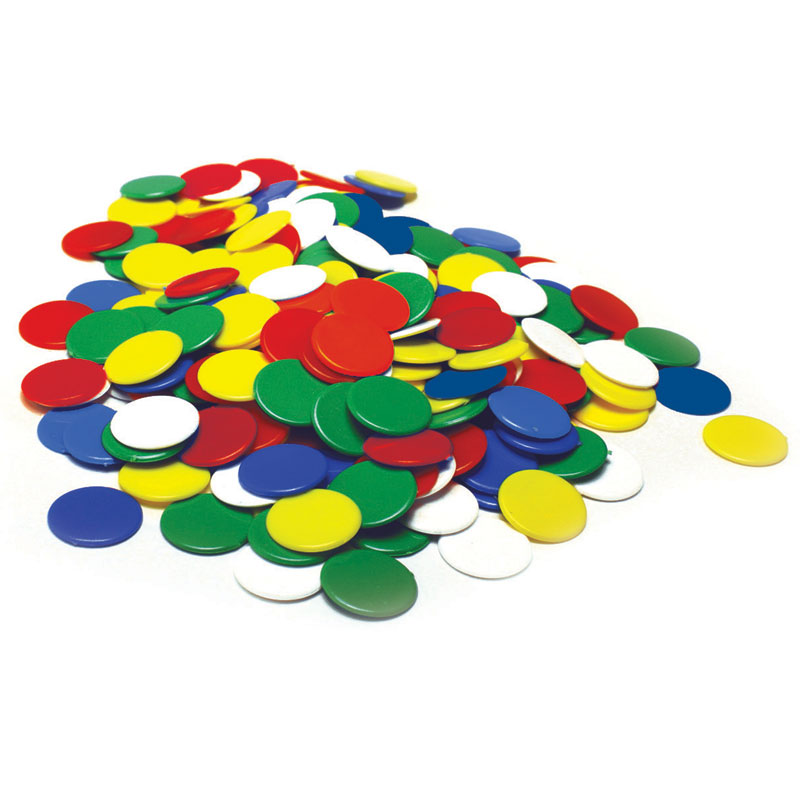 Invicta Counters 22mm - Assorted Colours (Set of 500) - IP011059