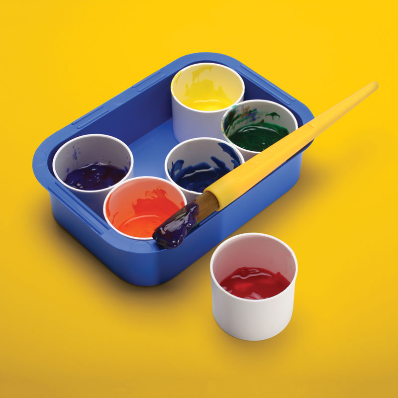 Invicta Paint Tray and White Pots - IP040059
