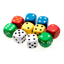 Invicta Jumbo Spot Dice - Set of 10