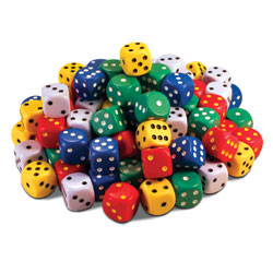Invicta Jumbo Spot Dice - Set of 100