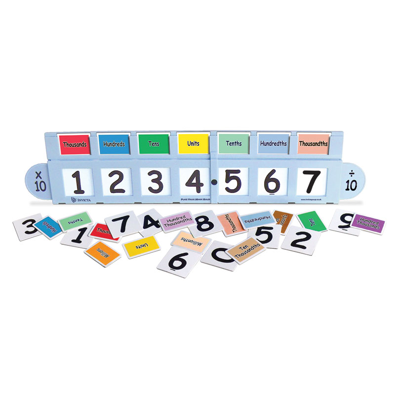 Invicta Place Value Magic Ruler Teacher Pack - including 1 Large Place Value Ruler - IP124559