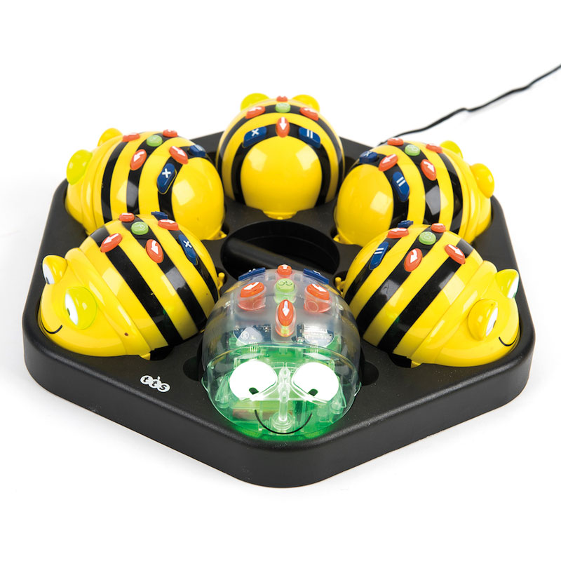 TTS Mixed Bee-Bot & Blue-Bot Bundle - 5x Bee-Bots, 1x Blue-Bot & Docking Station - IT01243