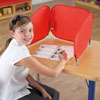 TTS Pop Up Concentration Desk Barrier - in Red - SD11014