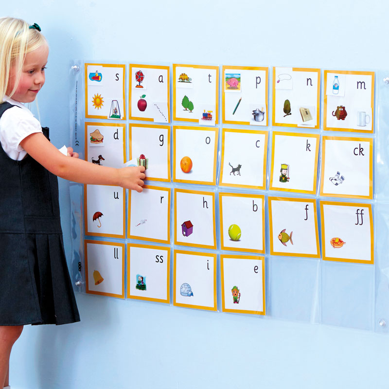 Phonics Pocket Wall Chart Phase 2 - 114cm x 60cm - LI02013