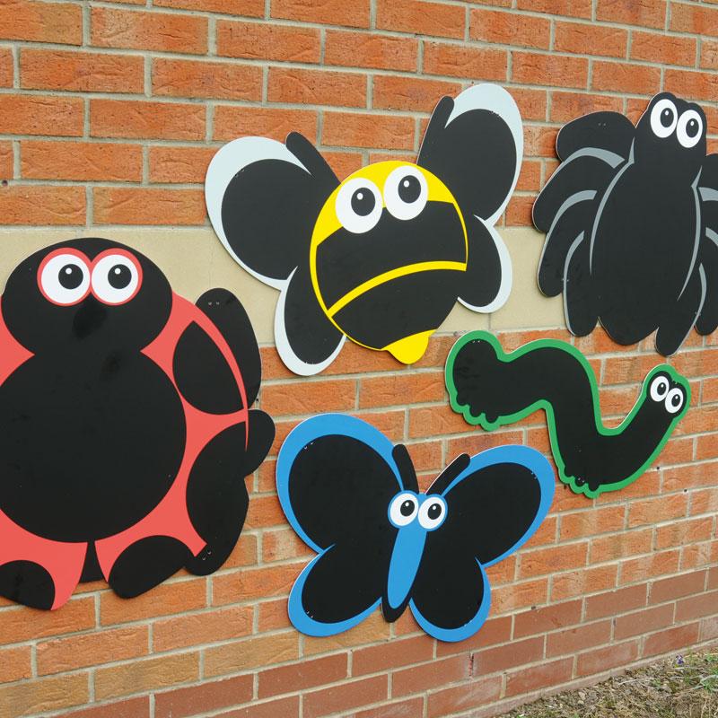 TTS Outdoor Blackboard Mini Bugs - Set of 5 Mark Making Chalkboards - AR01502