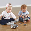 TTS Mirrored Stacking Pebbles Silver - Set of 20 - EY04238