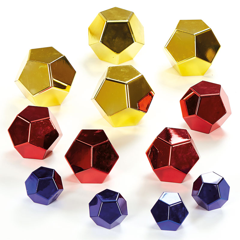 TTS Marvellous Metallics Boulder Blocks - Coloured Set of 12 - EY06511