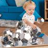 TTS Marvellous Metallics Boulder Blocks - Silver Set of 12 - EY06069