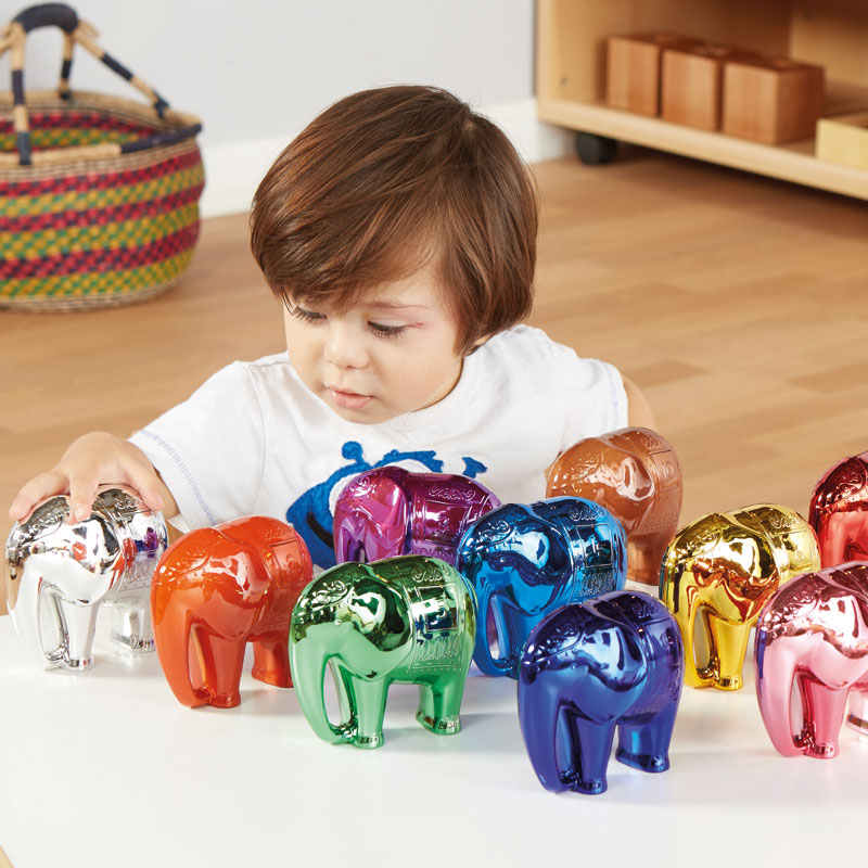 TTS Metallic Elephant Number and Counting - Set of 10 (Numbers 1-10) - EY06519