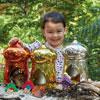 TTS Metallic Small World Fairy House - Set of 3 - EY06702