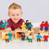 TTS Wooden Small World Diversity Multicultural Family - Set of 16 - EY06025