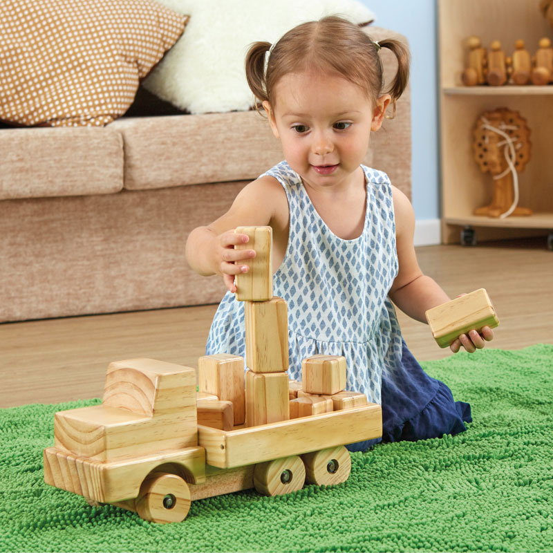TTS Giant Wooden Truck with Building Blocks - EY06799