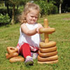 TTS Giant Wooden Stacking Pyramid - Triangular Shapes - EY06027