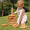TTS Giant Wooden Stacking Pyramid - Square Shapes - EY06026