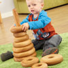 TTS Giant Wooden Stacking Pyramid - Circular Shapes - EY05326