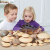 TTS Wooden Stacking Pebbles - Set of 20 - EY05062