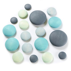 TTS Wooden Stacking Pastel Pebbles - Set of 18 [EY06720]