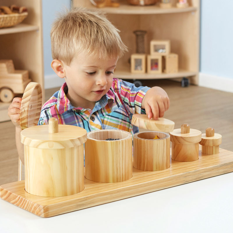 TTS Wooden Toddler Sorting Pots - Set of 5 - EY06795