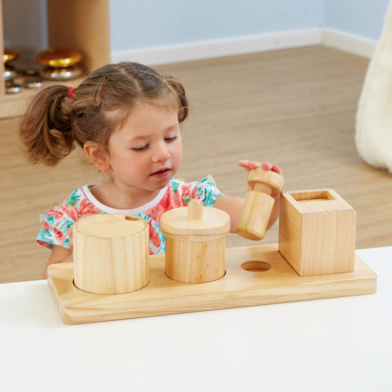 TTS Wooden Discovery Boxes with Lids for Toddlers - EY06792