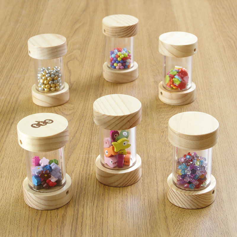 TTS Wooden Shakers for Babies - Pack of 6 - EY05073