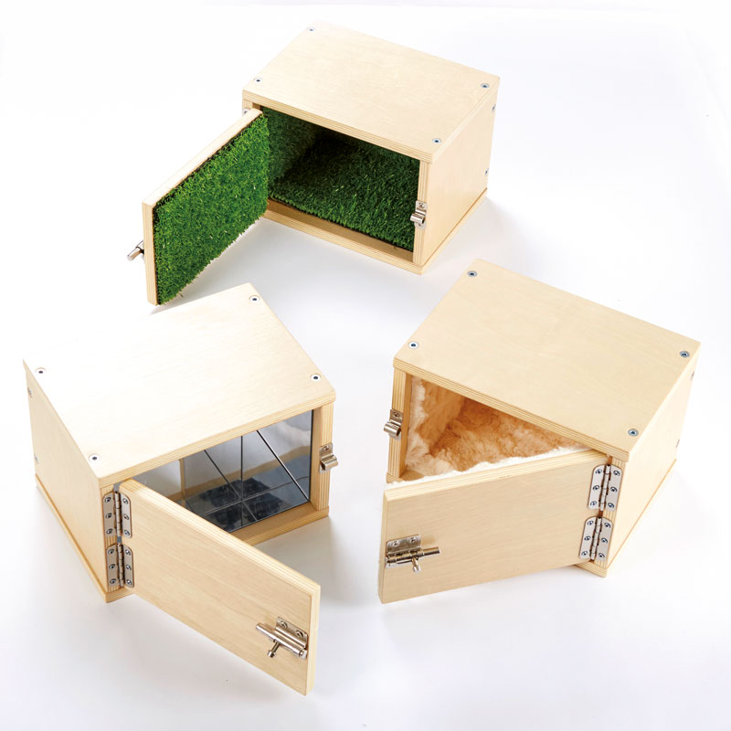 TTS Wooden Discover Textures Lock Boxes - Set of 3 - EY06292