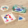 TTS Wooden Mirror Trays - Set of 4 - EY01189