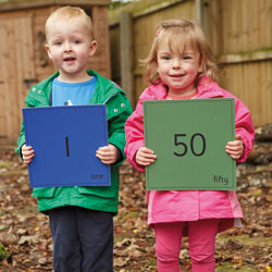 TTS Giant Outdoor Number Mats 1-50 - Set of 50 [EY06691]