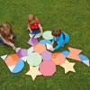 TTS Giant Glitter Mosaic Shapes Set 2 - Set of 33 - EY05076