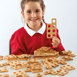 TTS Wooden Number Frames - Set of 80