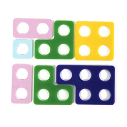 TTS Desktop Silicone Number Frames - Set of 80