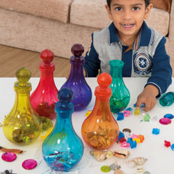 TTS Coloured Plastic Potion Bottles - Set of 6 [EY06701]