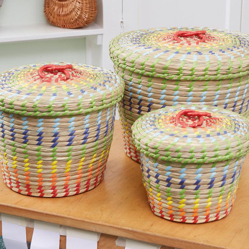 TTS Colourful Nesting Storage Baskets - Set of 3 - EY06017