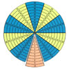 TTS Colourful Foam Times Table Wheel Segments - MA02911