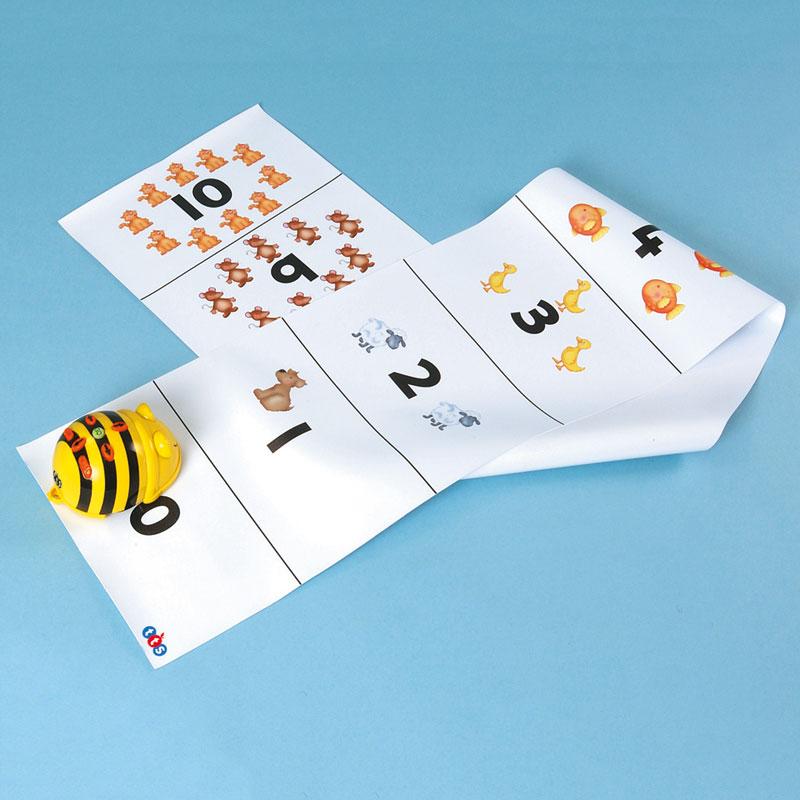 TTS Bee-Bot Mat - Number Track (0-10) - FWALKN10