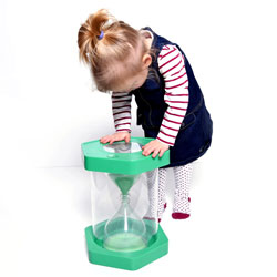 Giant Sit-On ClearView Sand Timer - Green - 1 Minute