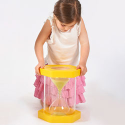 Giant Sit-On ClearView Sand Timer - Yellow - 3 Minute