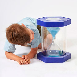 Giant Sit-On ClearView Sand Timer - Blue - 5 Minute