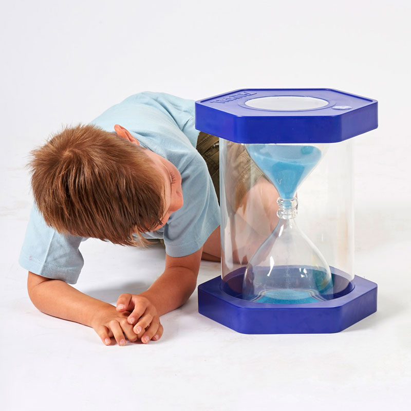 Giant Sit-On ClearView Sand Timer - Blue - 5 Minute - CD92032