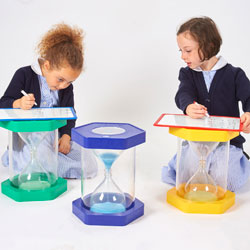 Giant Sit-On ClearView Sand Timer - Set of 3 (1, 3 and 5 Minute)