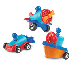 1-2-3 Build It! Car-Plane-Boat - by Learning Resources