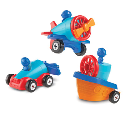 1-2-3 Build It! Car-Plane-Boat - by Learning Resources - LER2840