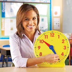 Big Time Geared Teacher Demonstration Clock - by Learning Resources [LER2094]