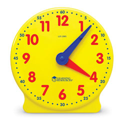 Big Time 12-Hour Geared Student Clock - by Learning Resources