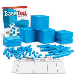 Grooved Base 10 Plastic Class Set - 823 Pieces - by Learning Resources