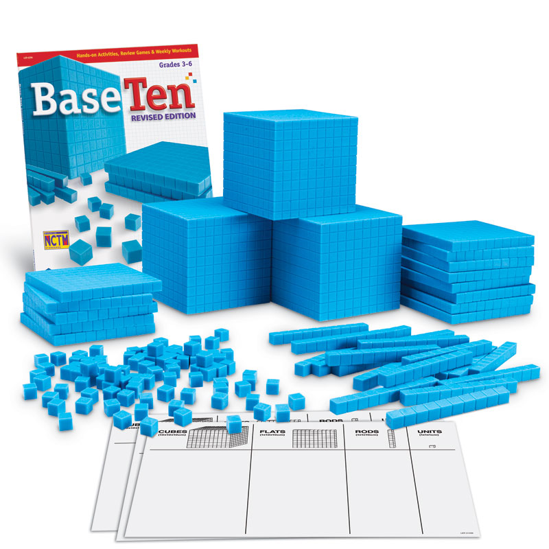 Grooved Base 10 Plastic Class Set - 823 Pieces - by Learning Resources - LER0932