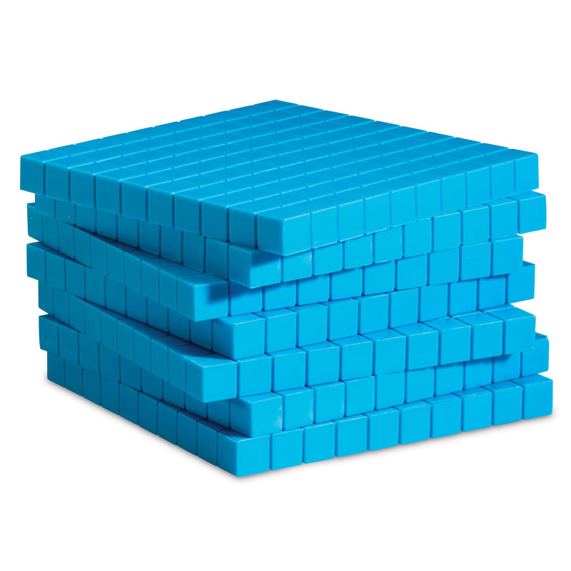 Grooved Base 10 Plastic Flats - Set of 10 - by Learning Resources - LER0926
