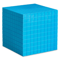 Grooved Base 10 Plastic Cube (Single) - by Learning Resources